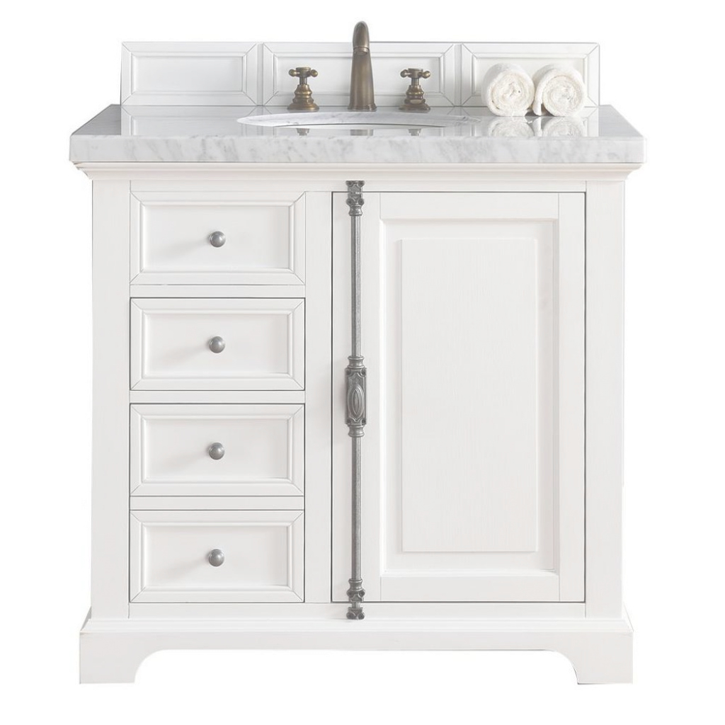 Elite James Martin Signature Vanities Providence 36 In. W Single Vanity In inside James Martin Bathroom Vanities