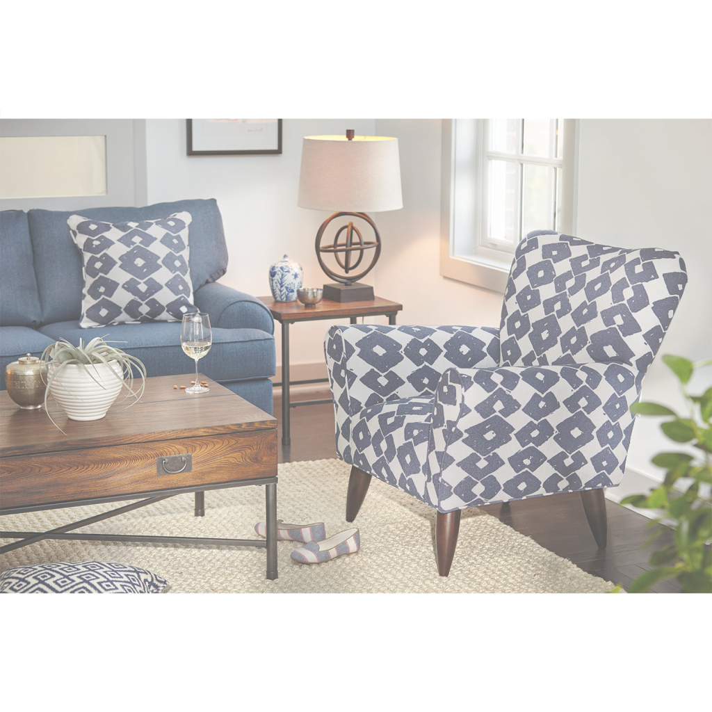 Elite Jessie Accent Chair - Blue | Value City Furniture And Mattresses within Accent Chairs Living Room