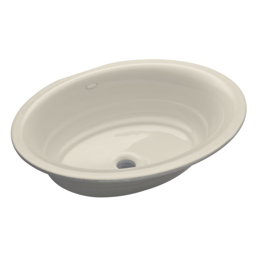 Elite Kohler Garamond Undermount Cast Iron Bathroom Sink In Almond-K-2832 in Cast Iron Bathroom Sink