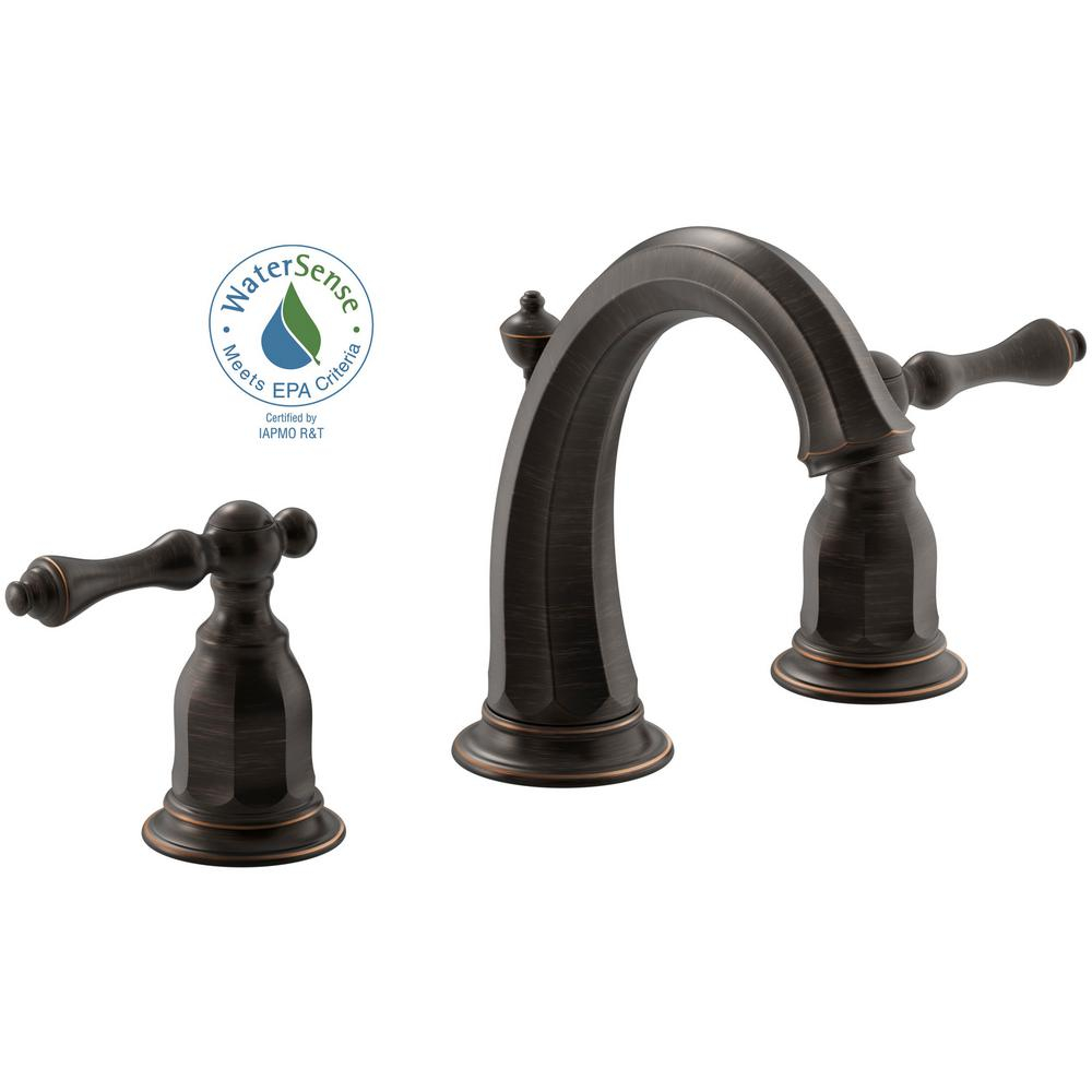 Elite Kohler Kelston 8 In. Widespread 2-Handle Water-Saving Bathroom regarding Set Oil Rubbed Bronze Bathroom Sink Faucet