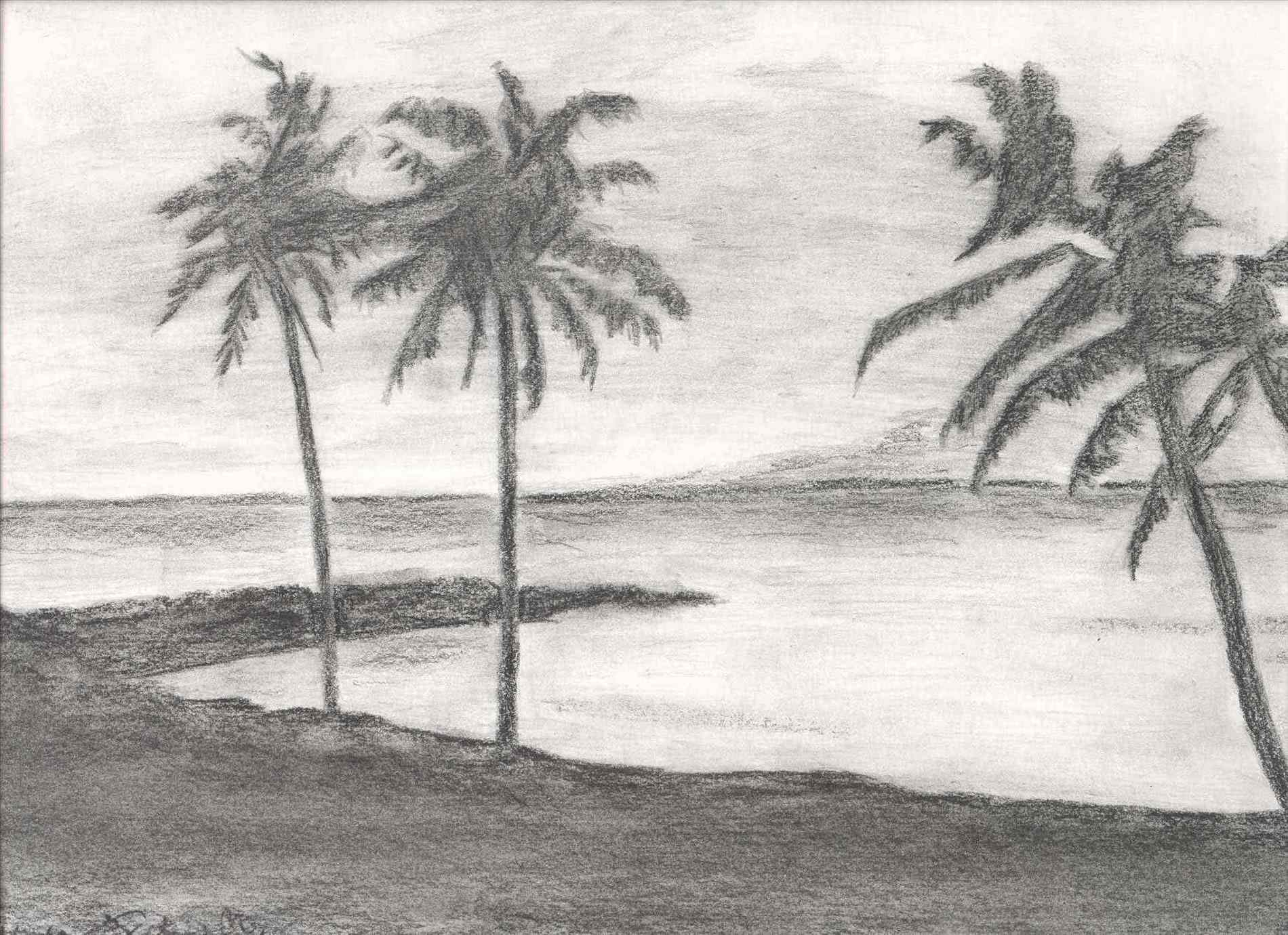 Elite Landscape Drawing Ideas Beach Landscape Drawing - Drawing Arts with regard to Landscape Drawing Ideas