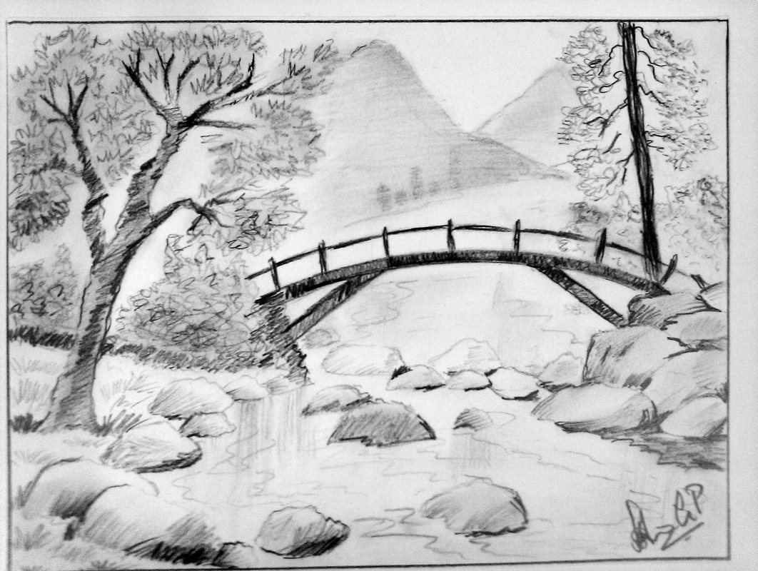Elite Landscape Drawing Ideas - Pencil Drawings Sketch throughout Landscape Drawing Ideas