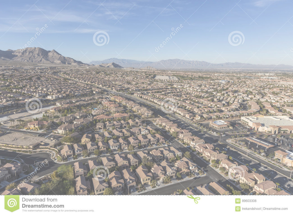 Elite Las Vegas Summerlin Desert Bedroom Community Stock Photo - Image Of intended for Bedroom Community