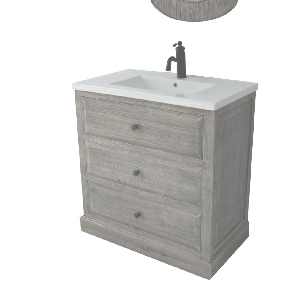 "Elite Laurel Foundry Modern Farmhouse Bellevue 30"" Single Sink Bathroom intended for Inspirational Single Sink Bathroom Vanity"
