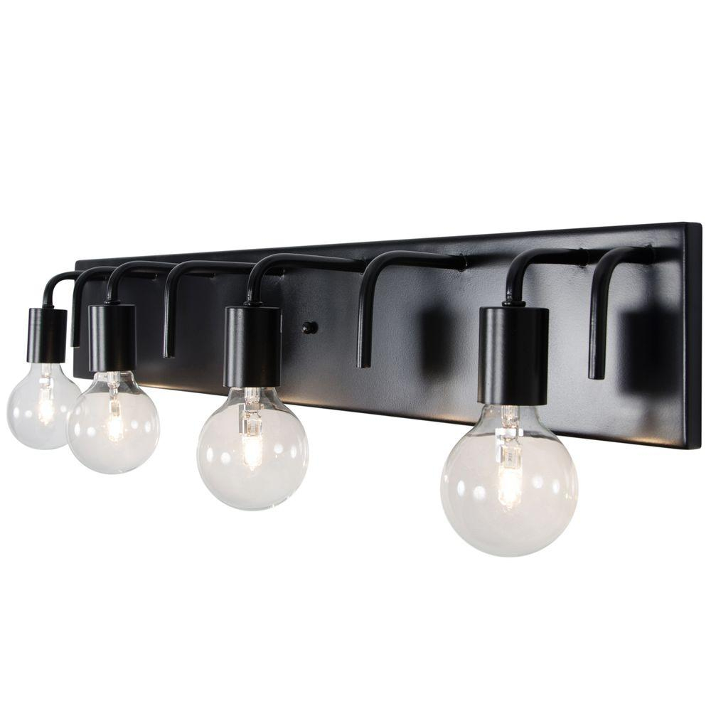 Elite Long Bathroom Vanity Lights Single Vanity Light 6 Bulb Bathroom regarding Black Bathroom Vanity Light