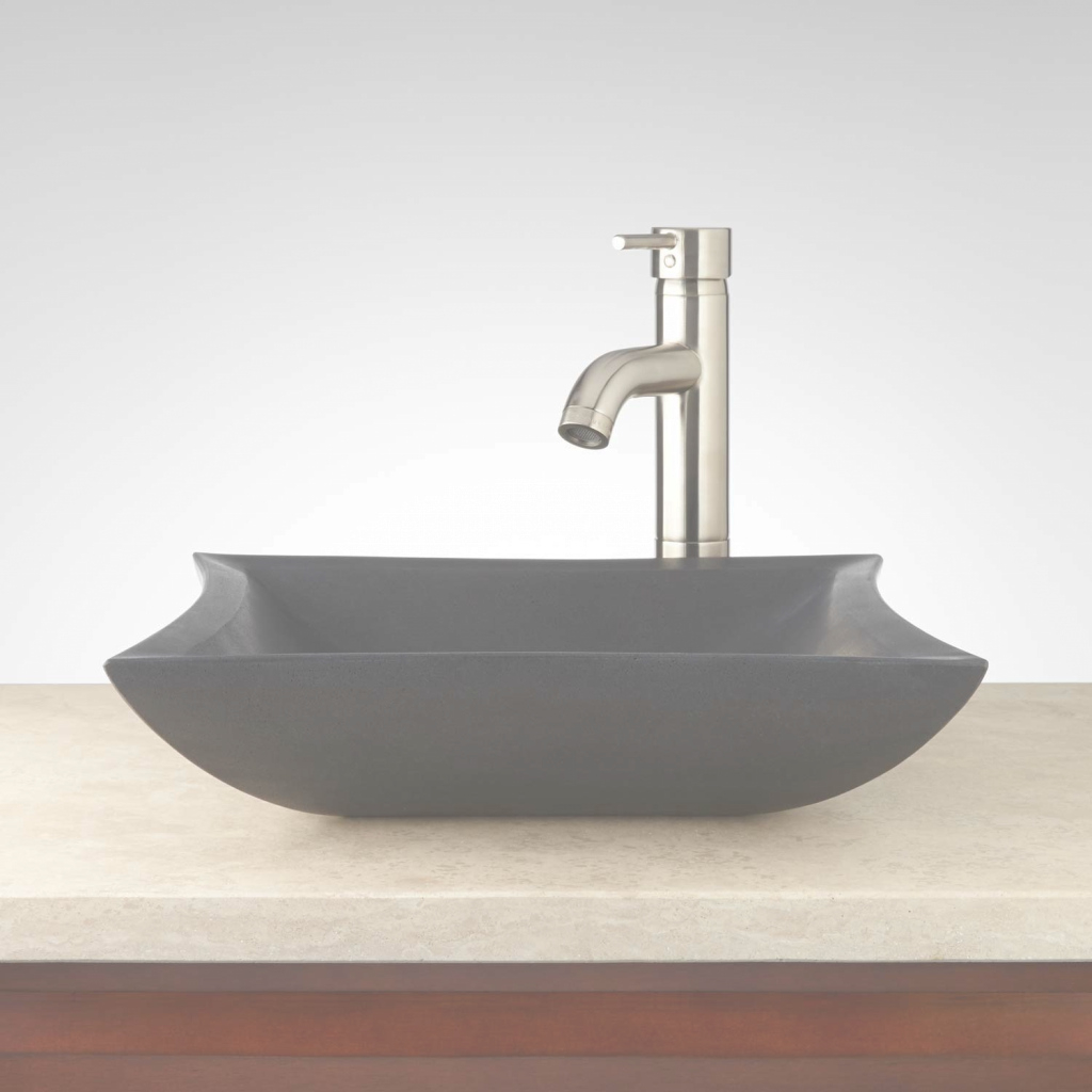 Elite Mauna Lava Stone Square Vessel Sink - Bathroom regarding Bathroom Vessel Sinks