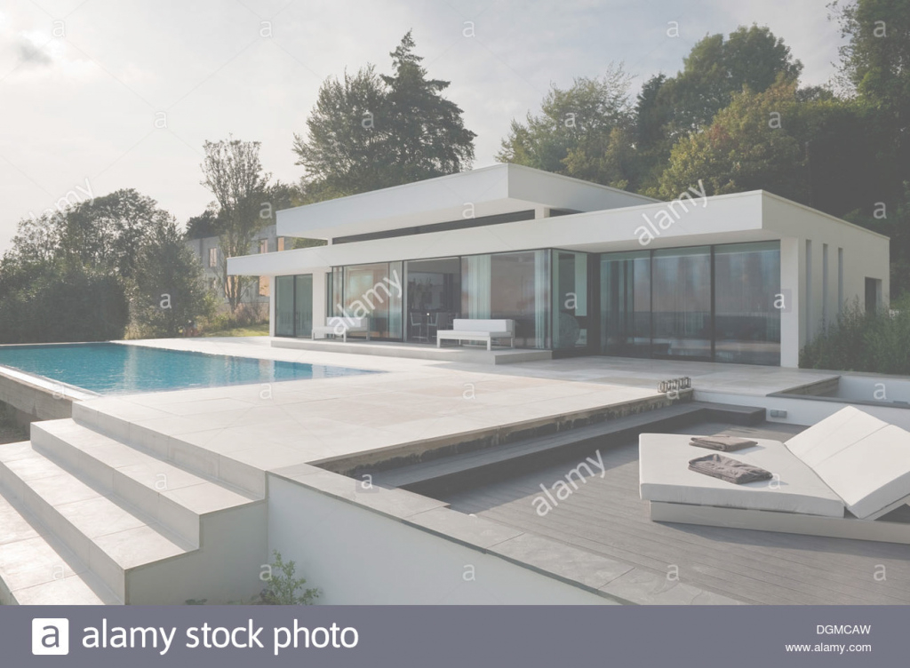 Elite Modern Bungalow With Infinity Pool In The Kent/sussex Borders Stock within Inspirational Modern Bungalow