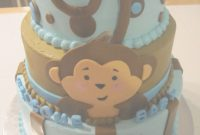 Elite Monkey Baby Shower Cake | Pinterest | Monkey Baby, Shower Cakes And in Lovely Baby Shower Monkey Cakes