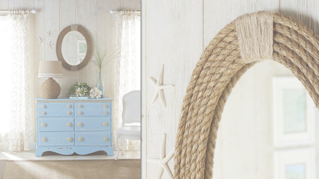 Elite Nautical Rope Mirror Frame: Diy Rope Projects - Youtube pertaining to Awesome Nautical Mirror Bathroom