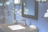 Elite Navy Blue And Gray Bathroom | Modern Home Decorating Ideas in Blue And Gray Bathroom