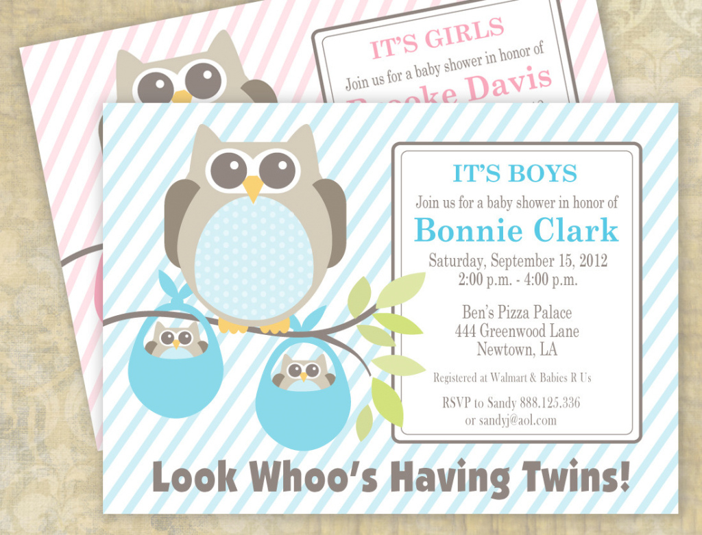 Elite Nice Twin Boy Baby Shower Invitations - Wyllieforgovernor in Beautiful Baby Shower Invitations For Twins