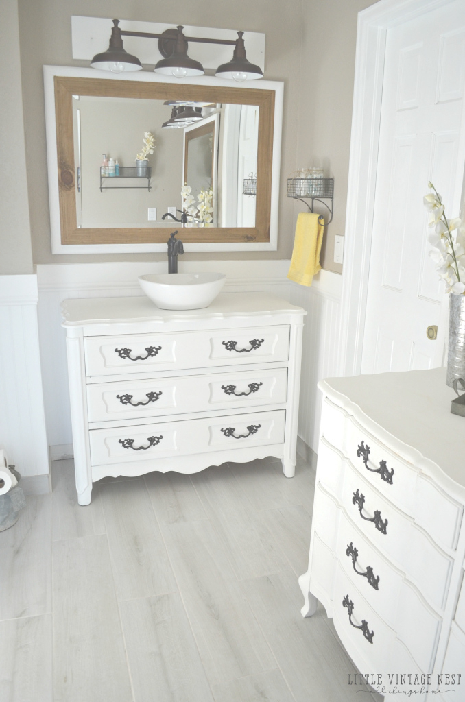 Elite Old Dresser Turned Bathroom Vanity Tutorial inside Dresser Bathroom Vanity