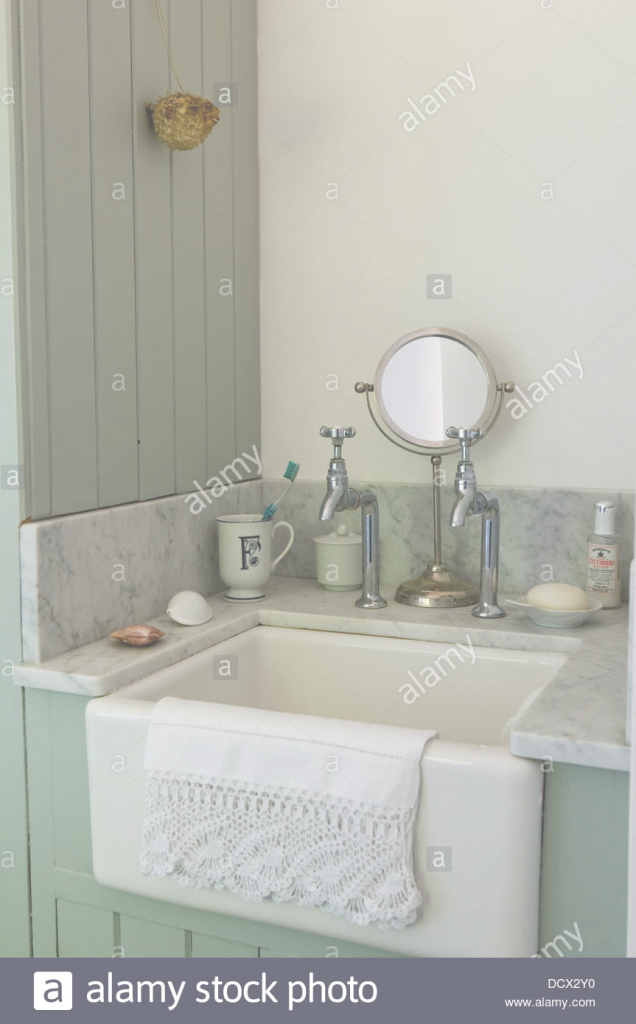 Elite Old Fashioned Sink And Taps In Paneled Bathroom With Marble Topped intended for Old Fashioned Bathroom Sinks