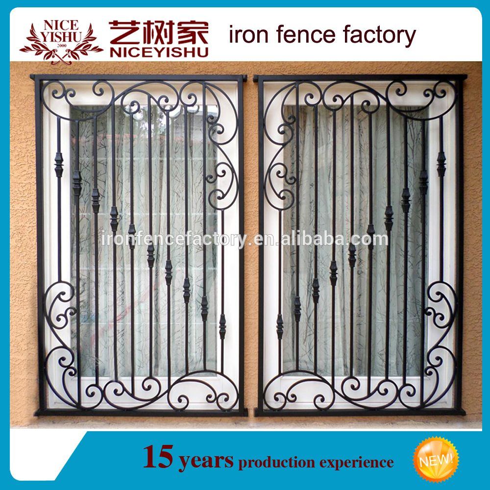 Wrought Iron Popular Window Grill Design Catalogue 2018 5