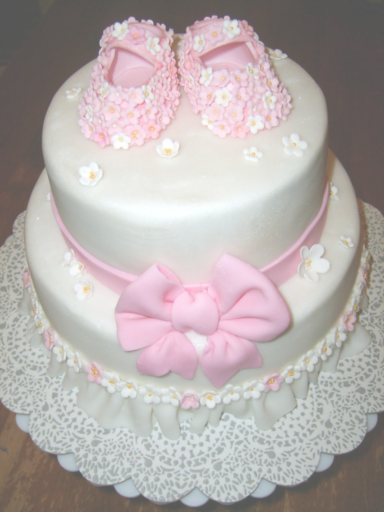 Elite Pink Shoes Baby Shower Cake - Custom Cakes In Lahore throughout Lovely Baby Girl Shower Cake Ideas