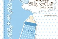 Elite Printable Baby Shower Invitations with regard to Free Baby Shower Invitations