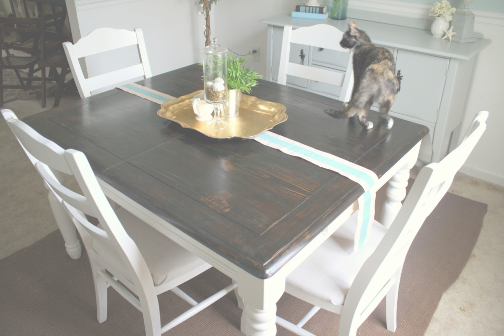 Elite Refinishing The Dining Room Table - Shannon Claire regarding How To Refinish A Dining Room Table