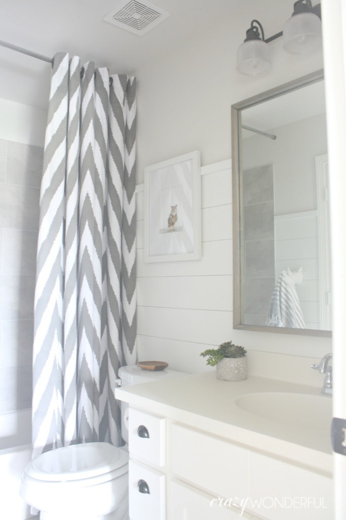 Elite Shiplap Boy's Bathroom Reveal - Crazy Wonderful pertaining to Unique Bathrooms With Shiplap