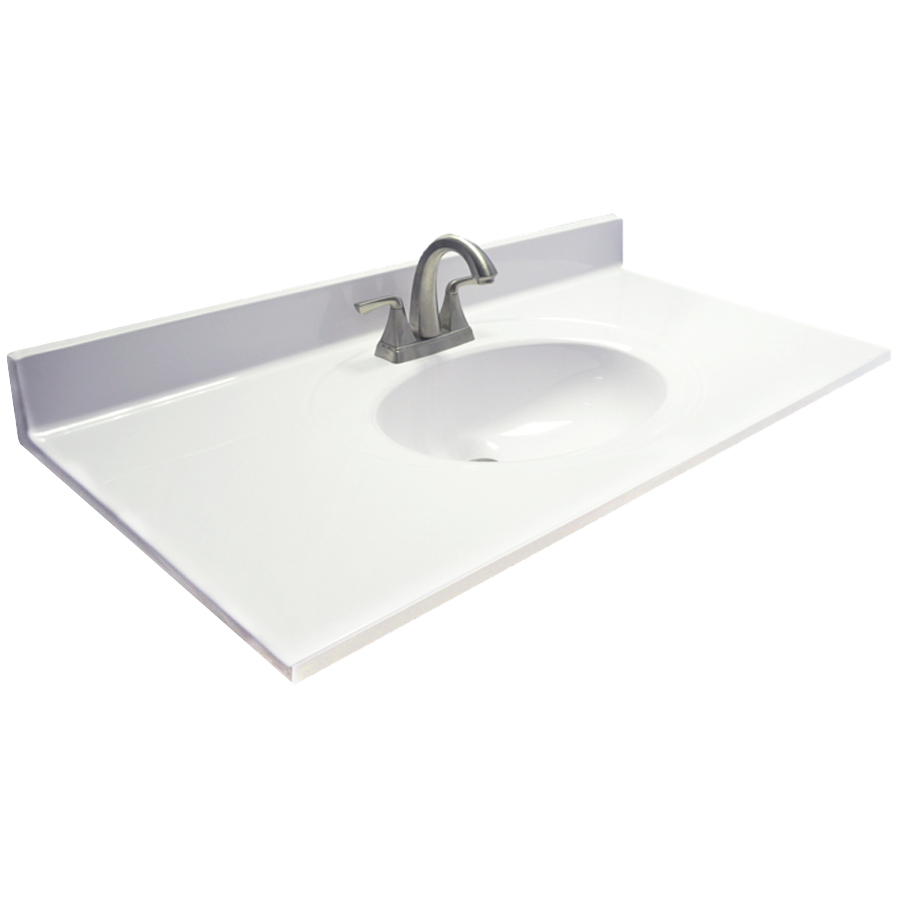 Elite Shop Bathroom Vanity Tops At Lowes throughout Bathroom Vanity With Top