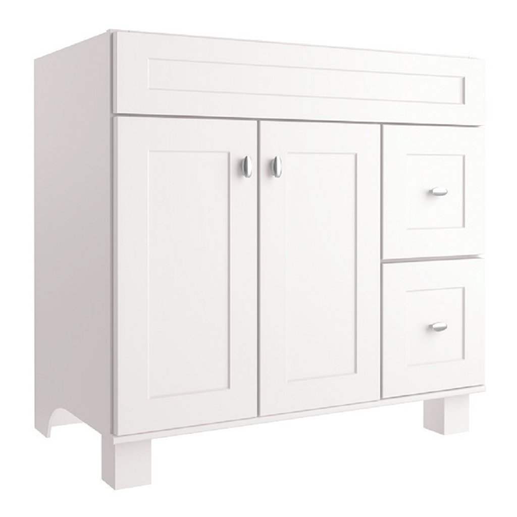 Elite Shop Diamond Freshfit Palencia Freestanding White Bathroom Vanity with regard to 36 White Bathroom Vanity