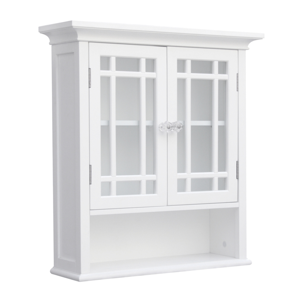 Elite Shop Elegant Home Fashions Neal 22-In W X 24-In H X 7-In D White for Wall Bathroom Cabinets