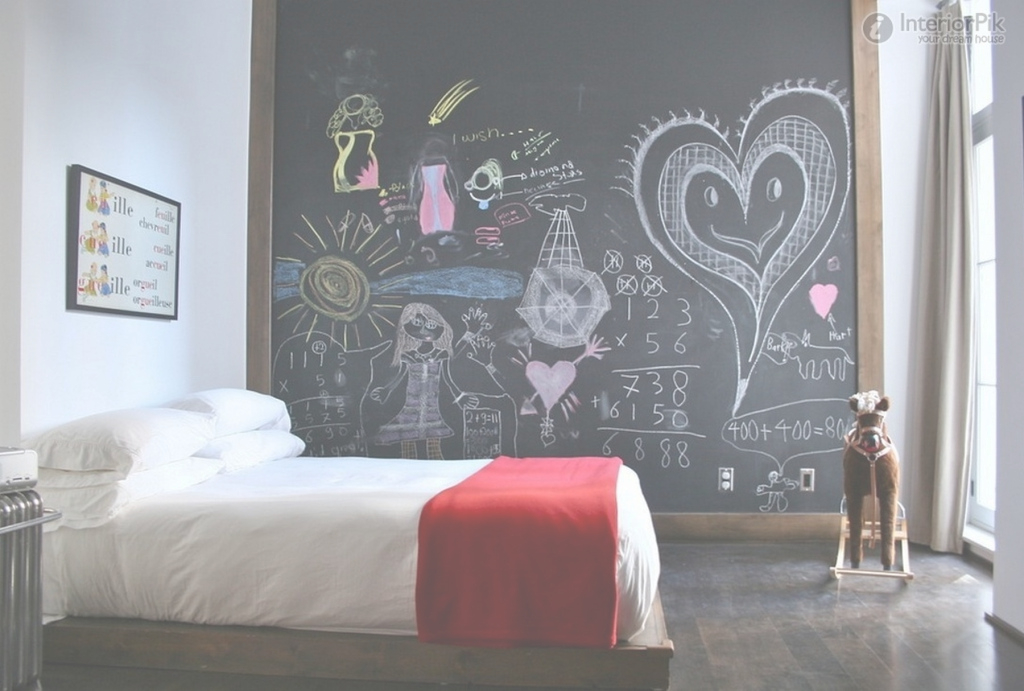 Elite Small Bedroom Wall Color Ideas For Kids With Extra Large Blackboard pertaining to Small Bedroom Colour Ideas