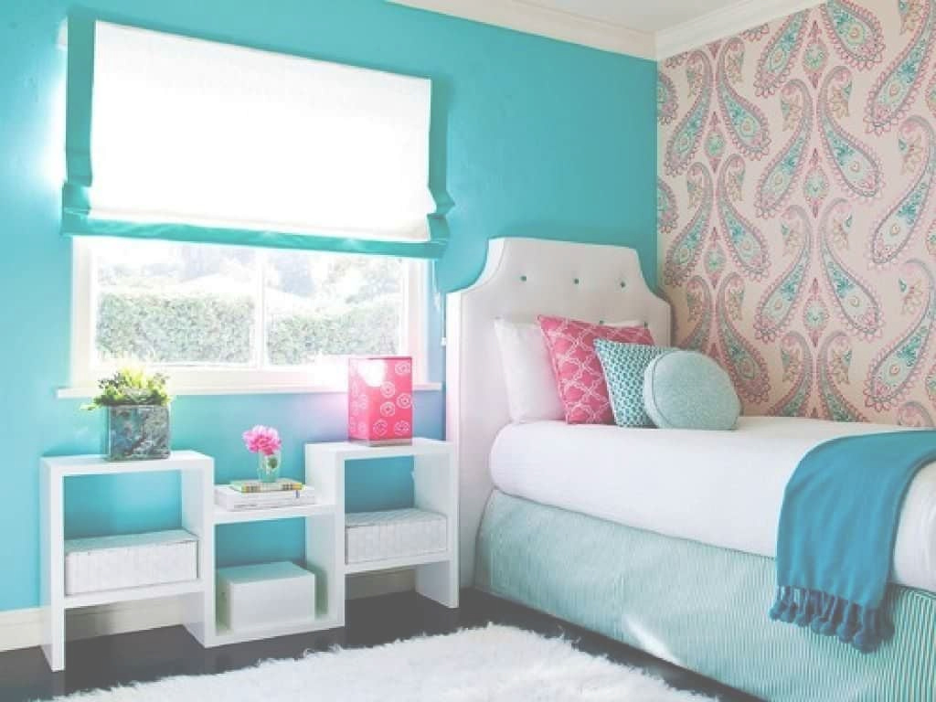 Elite Small Teenage Girl Bedroom Decorated With Paisley Wallpaper And with Good quality Small Teenage Girl Bedroom