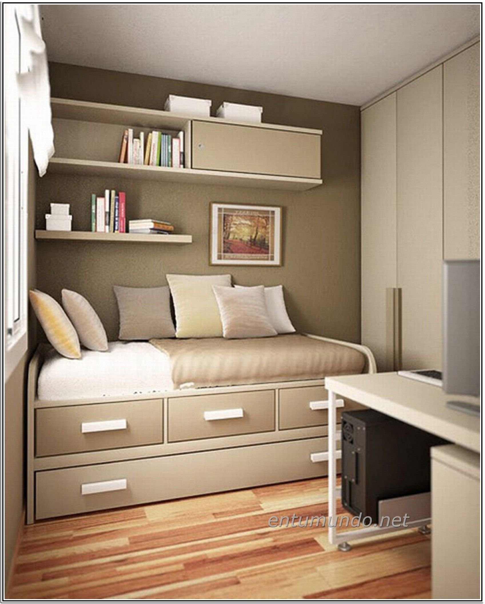 Elite Stunning Small Bedroom Storage Ideas Copy This Us Creative Of Clever in Small Bedroom Hacks