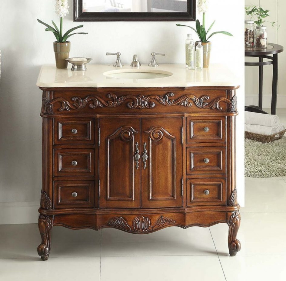 Elite Stunning Traditional Bathroom Vanities 6 Adelina 42 Inch Inside inside Awesome Traditional Bathroom Vanity