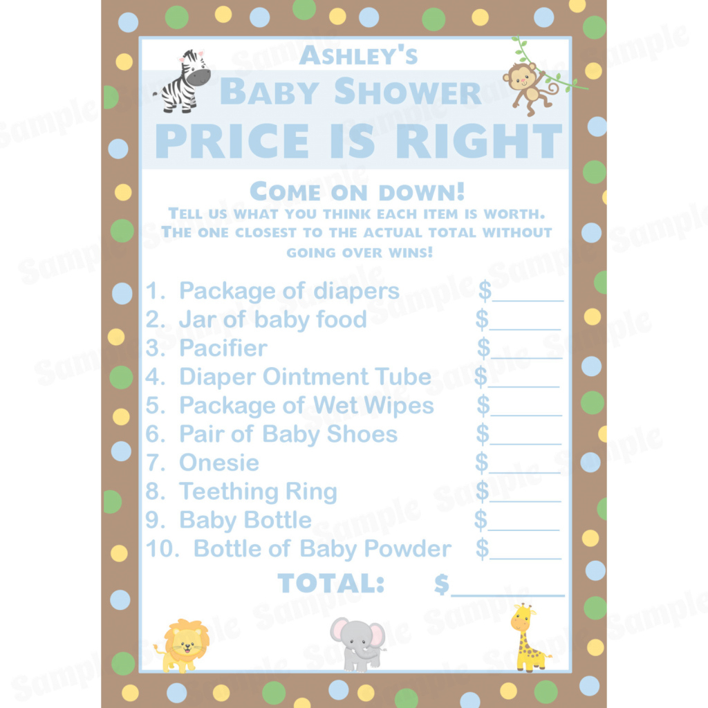 Elite Totally Tasteful Baby Showerames Personalized Price Is Rightame for Baby Shower Price Is Right
