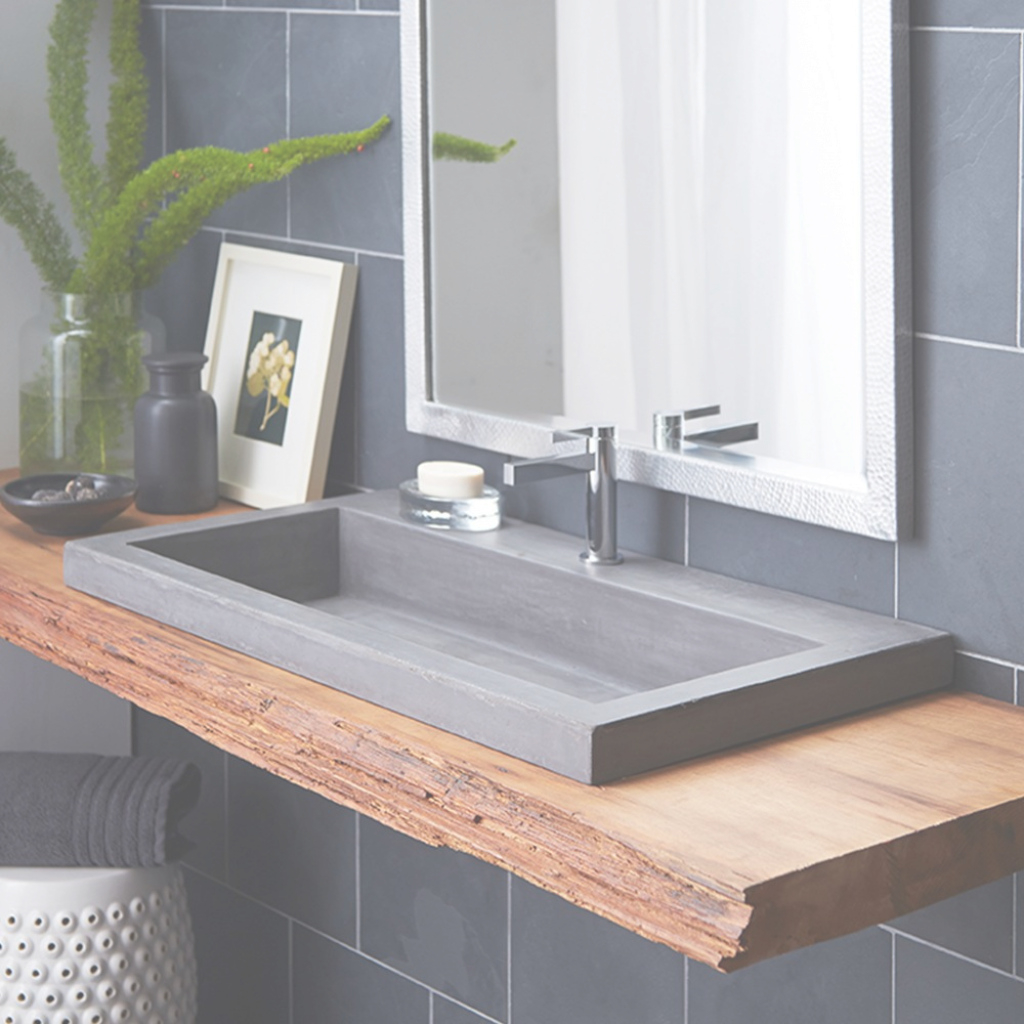 Elite Trough 3619 - Nativestone® Rectangular Bathroom Sink | Native Trails within Unique Trough Sinks For Bathrooms