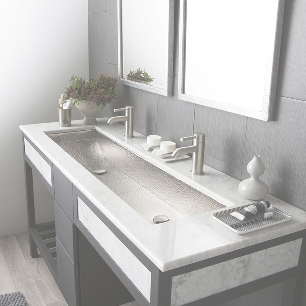 Elite Trough 48 Rectangular Brushed Nickel Bathroom Sink | Native Trails regarding Unique Trough Sinks For Bathrooms