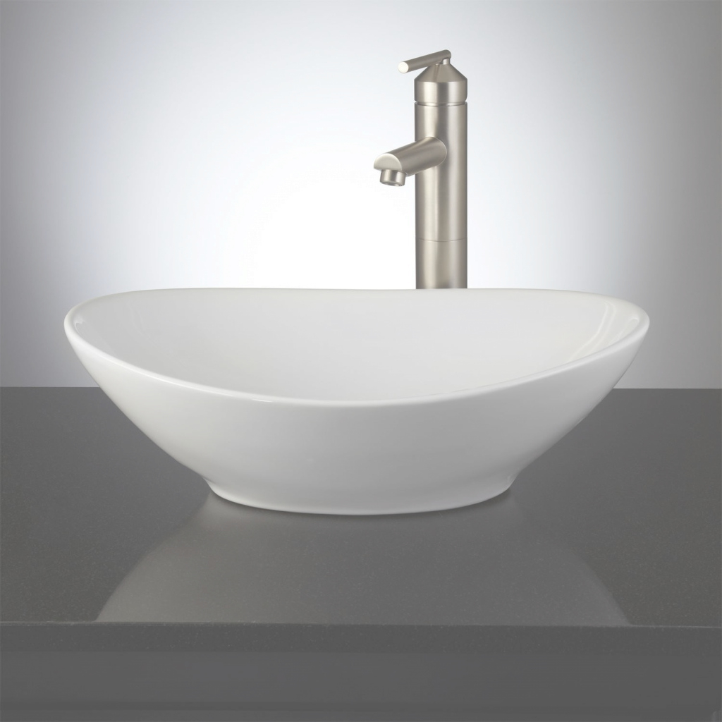 Elite Valor Oval Porcelain Vessel Sink - Bathroom intended for New Bathroom Vessel Sinks