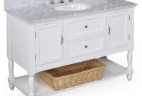 Elite Vanity And Cabinet Combo | 42 Inch Bathroom Vanity | 42 Double Sink inside 42 Inch Bathroom Vanity Combo