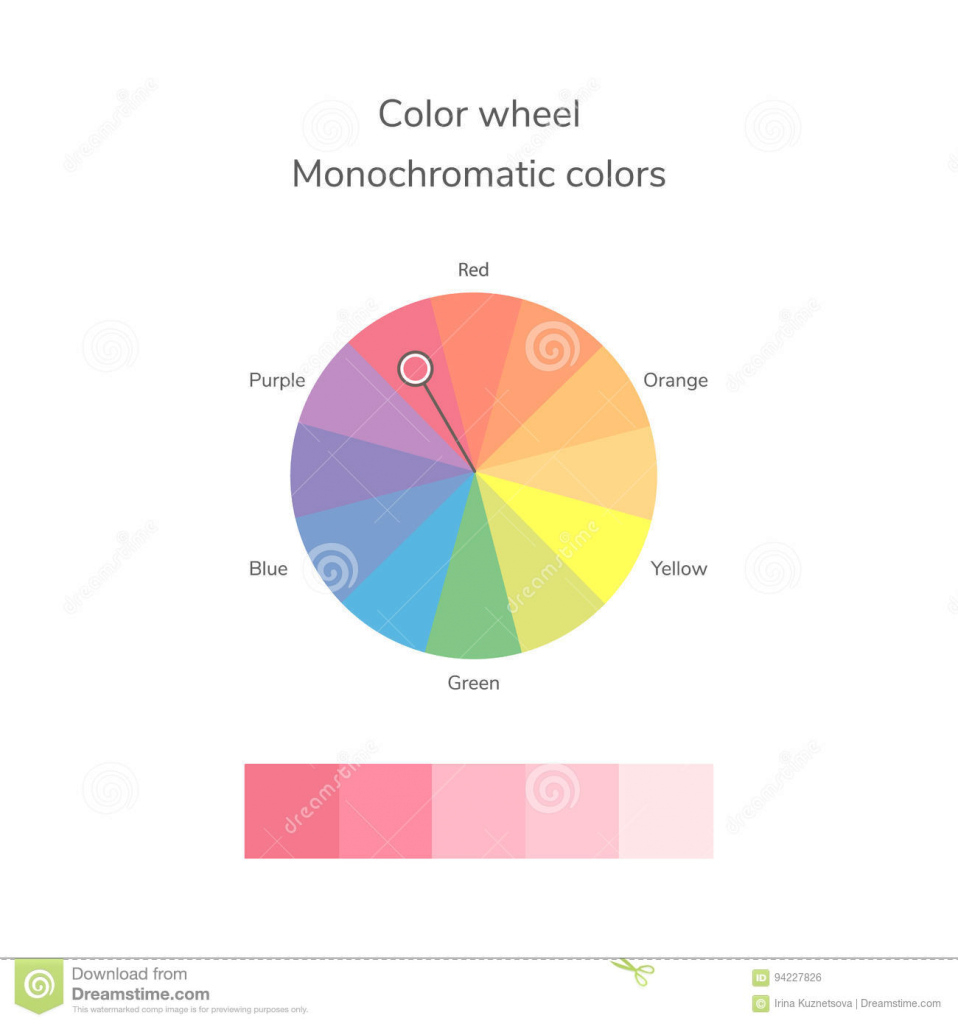 Elite Vector Illustration Of Color Circle, Monochromatic Color Stock throughout Monochromatic Colors
