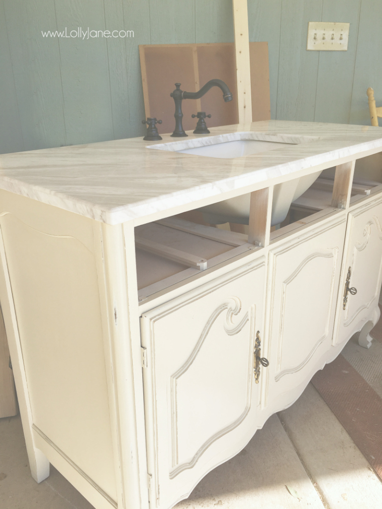 Elite Vintage Dresser To Bathroom Vanity - Lolly Jane intended for Fresh Dresser Bathroom Vanity