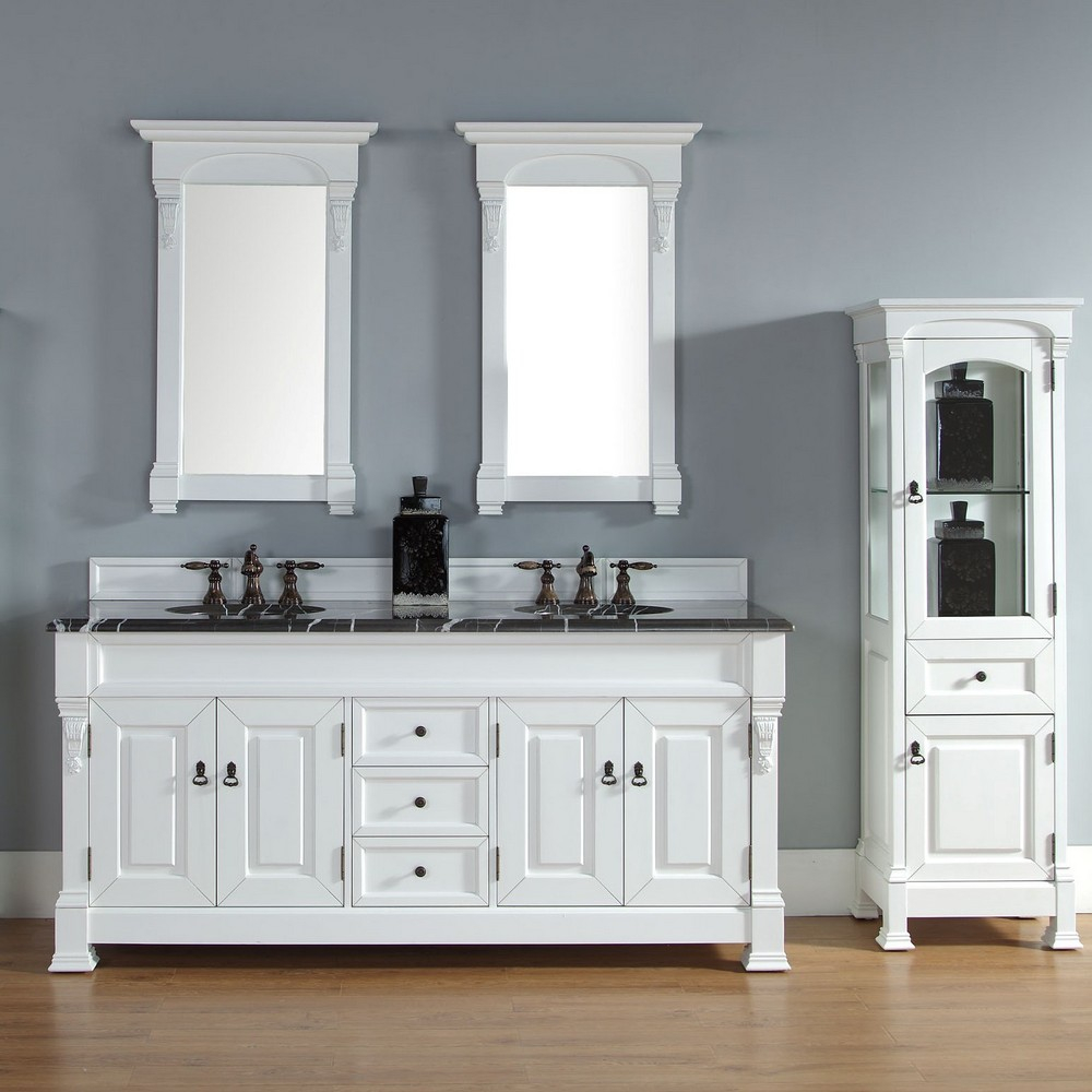 Elite White 72 Bathroom Vanity Double Sink — The Epic Design : Simple Way pertaining to Unique Bathroom Vanities Double Sink 72