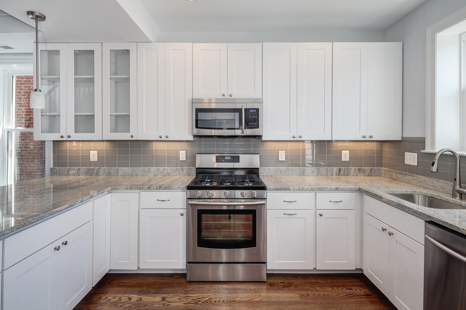 Elite White Kitchen Tile Backsplashes — Your Money Bus Design : Diy throughout Grey And White Kitchen Cabinets