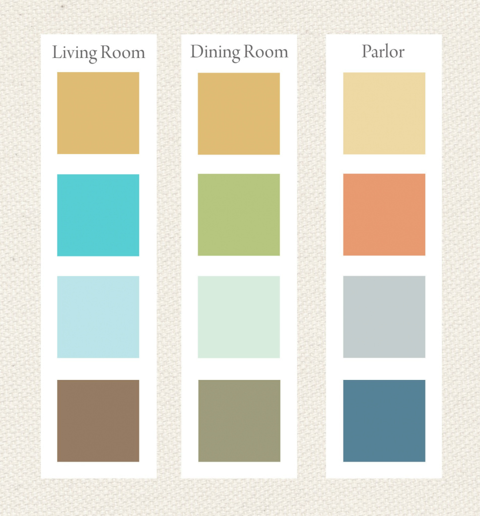 Elite Whole House Color Palette. I Like The Second From The Bottom for 1930S Color Palette