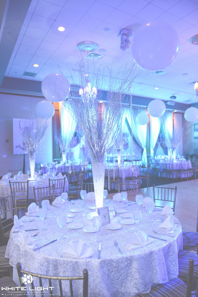 Elite Winter Wonderland Theme Party With Birch Tree Centerpieces Created throughout Luxury Winter Wonderland Table Decorations