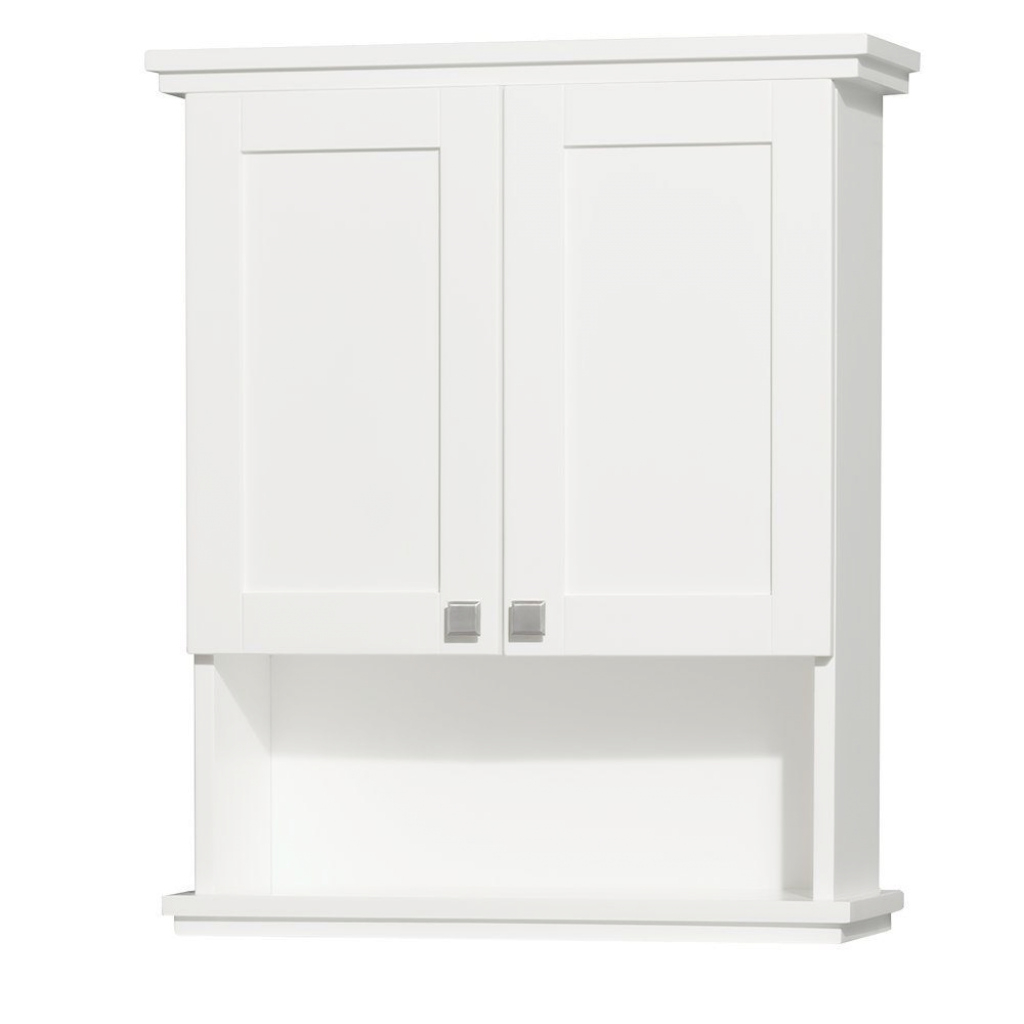 Elite Wyndham Collection Acclaim 25 In. W X 30 In. H X 9-1/8 In. D within Set Wall Bathroom Cabinets