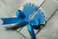 Epic 10 Baby Shower Invitations Cards Personalized Blue Feet Design For throughout Baby Shower De Niño