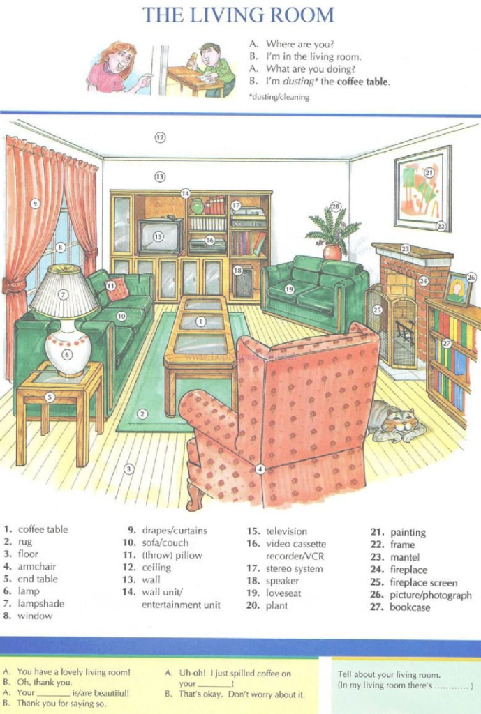 Epic 10 - The Living Room - Pictures Dictionary - English Study for Best of Living Room Dictionary