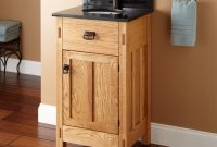 "Epic 19"" Mission Hardwood Vanity For Undermount Sink – Bathroom throughout Mission Style Bathroom Vanity"