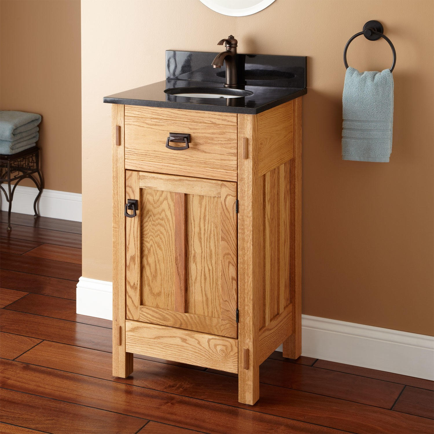 "Epic 19"" Mission Hardwood Vanity For Undermount Sink - Bathroom throughout Mission Style Bathroom Vanity"