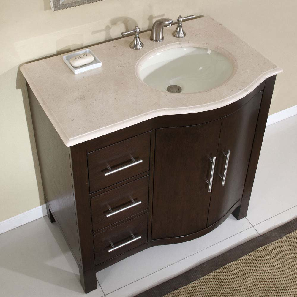 "Epic 36"" Silkroad Kimberly - Single Sink Cabinet Bathroom Vanity - Hyp throughout Bathroom Sink With Cabinet"