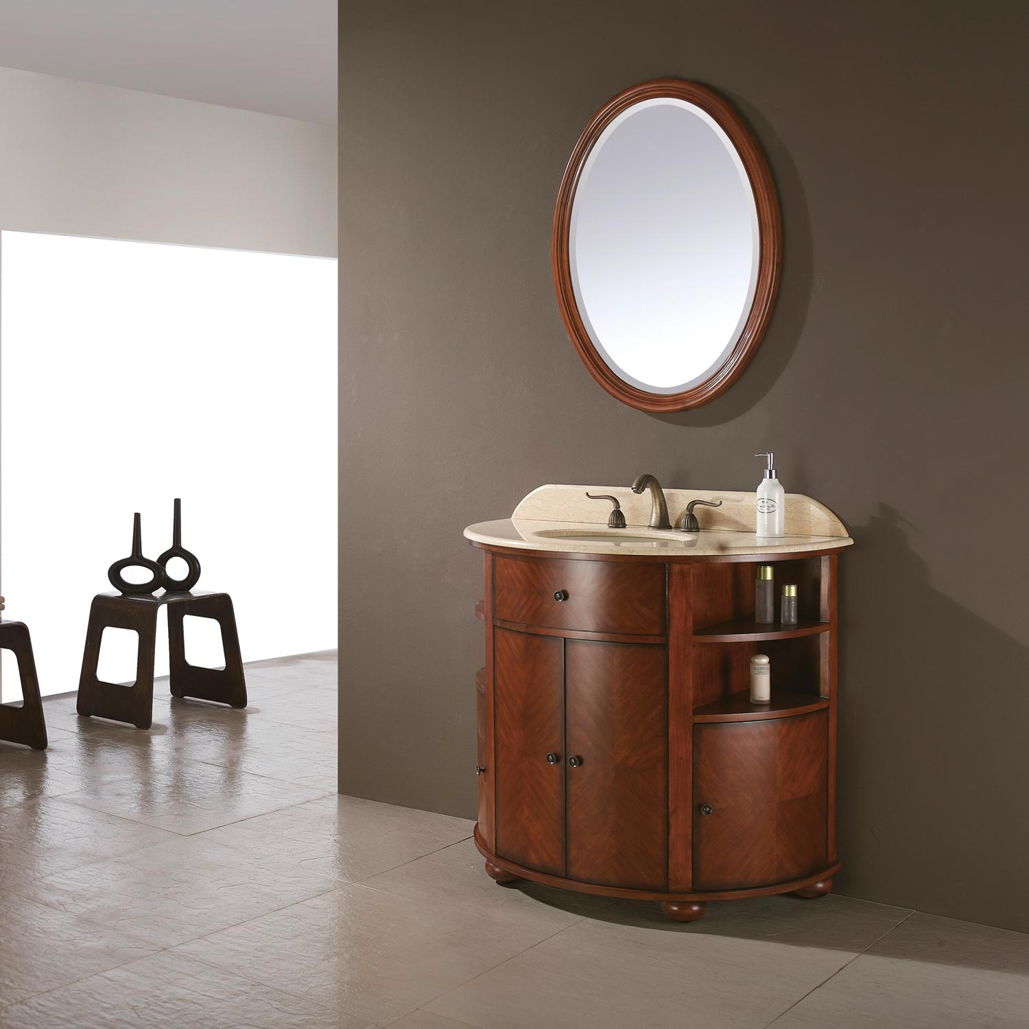 "Epic 38"" Oxford Bathroom Vanity (Dark Oak) :: Bathroom Vanities :: Bath with Beautiful Dark Bathroom Vanity"