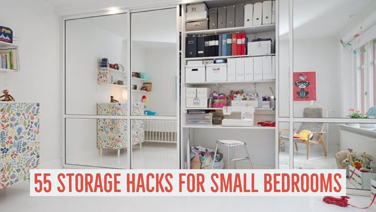 Epic 55 Storage Hacks For Small Bedrooms - Youtube throughout Small Bedroom Hacks