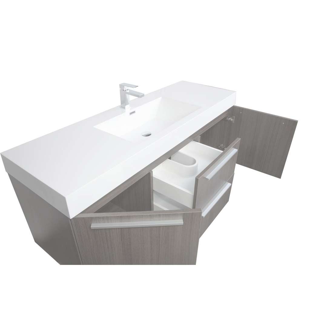 Epic 59 Inch Single Sink Bathroom Vanity - Vanity Ideas inside 59 Inch Bathroom Vanity