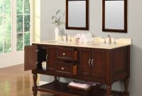 "Epic 70"" Mission Style Double Bathroom Vanity Sink Console With White intended for Mission Style Bathroom Vanity"